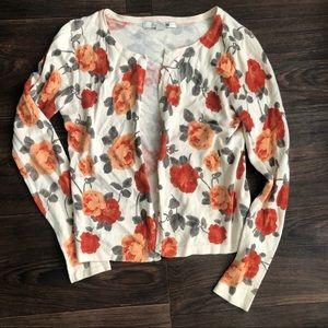 Forever 21 floral cardigan